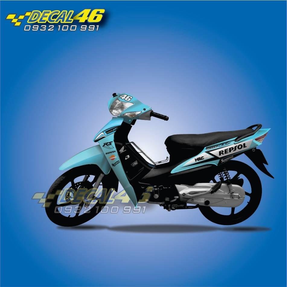Tem xe Honda Wave - 020 - Tem xe zin concept Repsol
