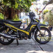 Tem xe Yamaha Sirius - 036 - Tem xe concept Yellow Matte