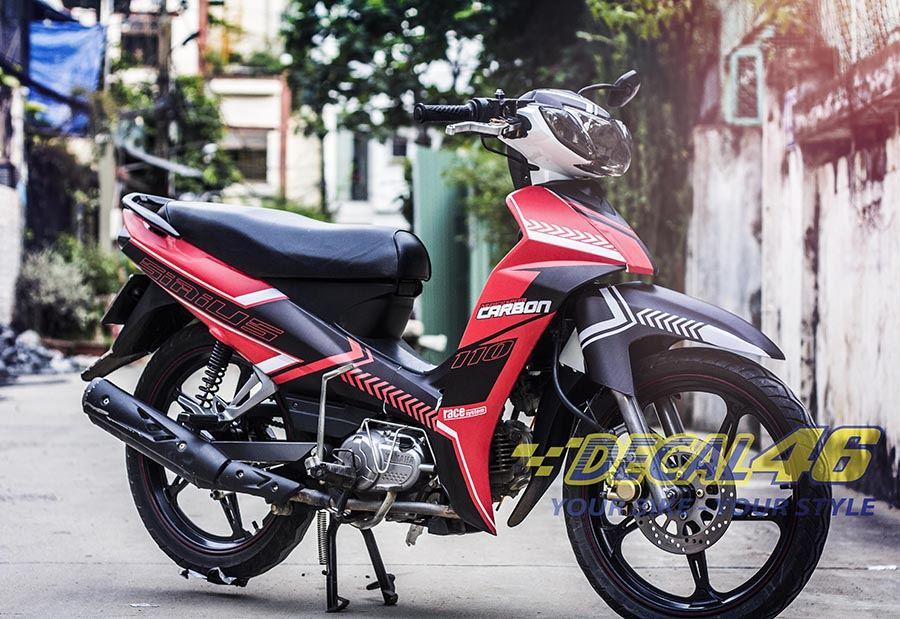 Tem xe Yamaha Sirius - 047 - Tem xe concept Carbon
