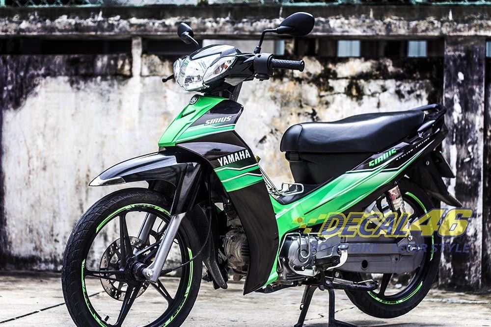 Tem xe Yamaha Sirius - 035 - Tem xe concept Xanh