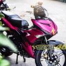 Tem xe Exciter 150 – 150 – Tem xe thiết kế Golden Racing nhôm hồng đen