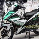 Tem xe Exciter 150 – 126 – Tem xe thiết kế Yamaha Green xanh bạc nhôm