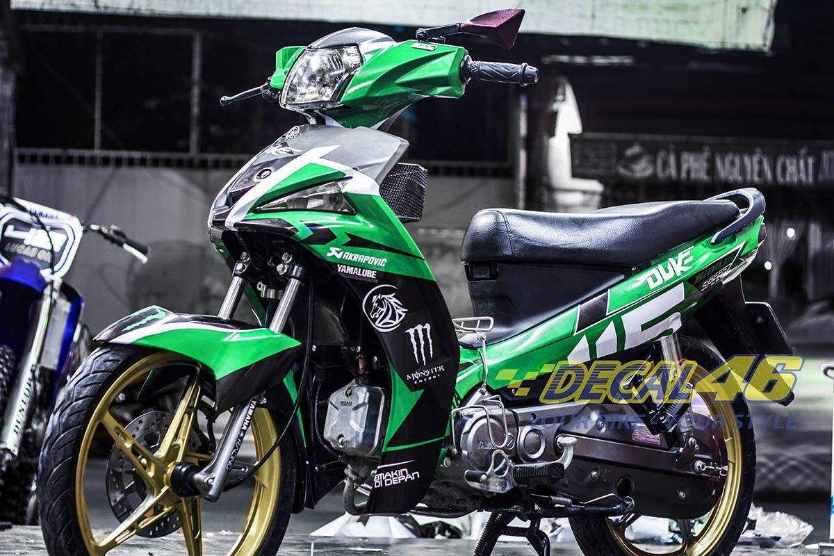 Tem xe Yamaha Sirius - 135 - Tem xe concept Green