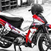 Tem xe Yamaha Sirius - 136 - Tem xe concept Hello Kitty đỏ