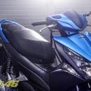 Tem xe Honda Airblade 125 – 022 – Tem xe thiết kế Nhôm xước xanh