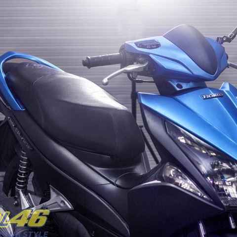 Tem xe Honda Airblade 125 - 022 - Tem xe concept Nhôm xước xanh