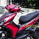 Tem xe Honda Airblade 125 – 018 – Tem xe thiết kế Matte Black candy đỏ đen