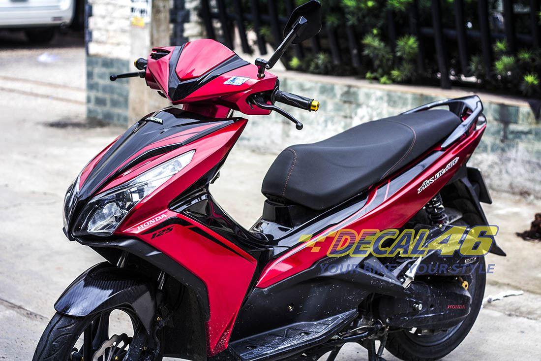 Tem xe Honda Airblade 125 - 018 - Tem xe concept Matte Black
