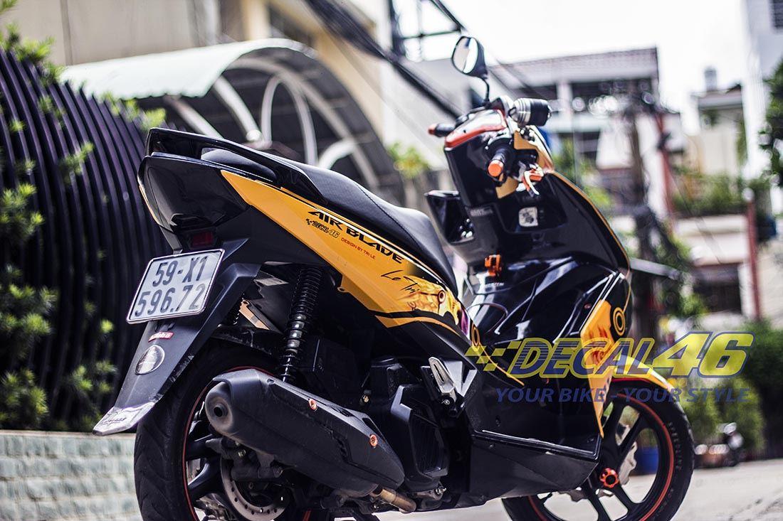 Tem xe Honda Airblade 125 - 020 - Tem xe concept Naruto