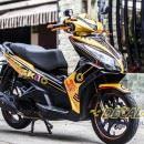 Tem xe Honda Airblade 125 – 020 – Tem xe thiết kế Naruto vàng đen