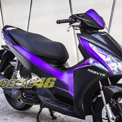 Tem xe Honda Airblade 125 - 021 - Tem xe concept Nhôm xước tím