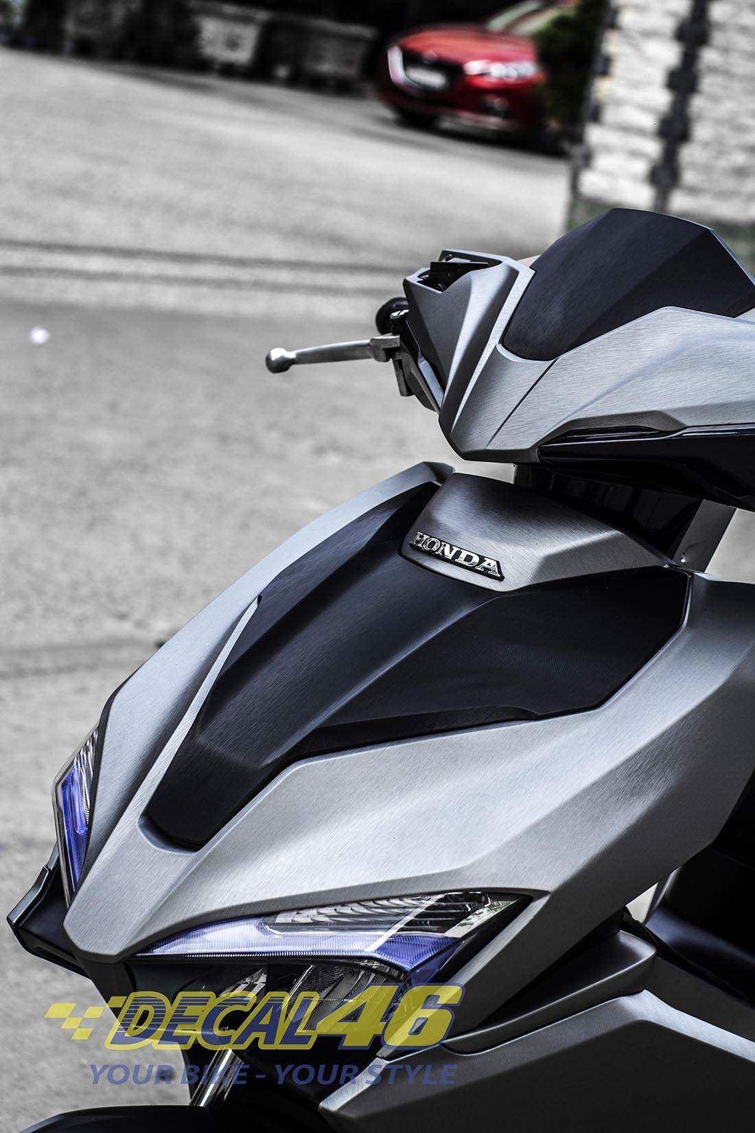 Tem xe Honda Airblade 2016 - 018 - Tem xe concept Nhôm xước xám