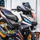 Tem xe Winner 150 – 106 – Tem xe thiết kế Click Thái nhôm cam đen