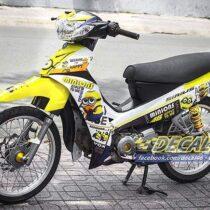 Tem xe Yamaha Sirius - 156 - Tem xe concept Minion vàng trắng
