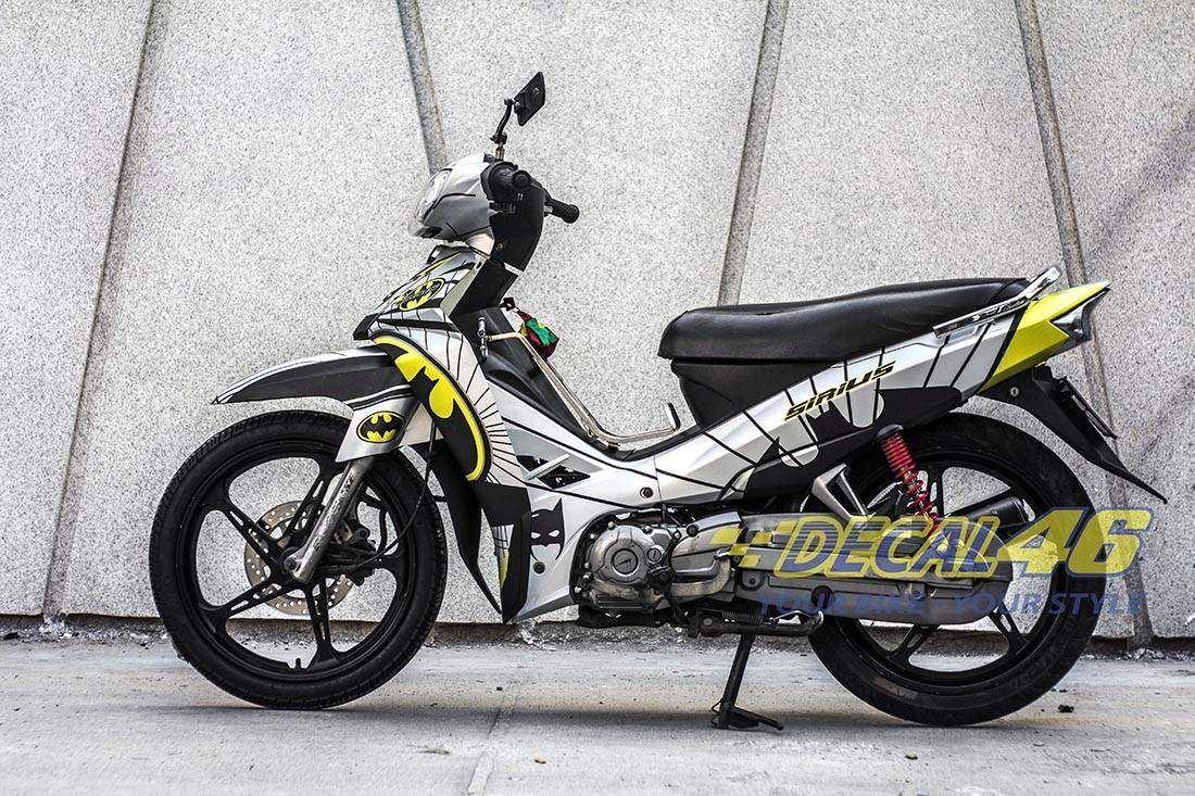 Tem xe Yamaha Sirius - 139 - Tem xe concept Batman bạc đen