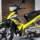 Tem xe Yamaha Sirius – 140 – Tem xe concept Adidas vàng đen