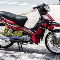 Tem xe Yamaha Sirius - 141 - Tem xe concept Deadpool đỏ đen