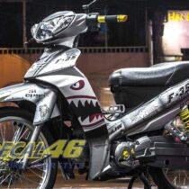 Tem xe Yamaha Sirius - 142 - Tem xe concept F35 đen bạc