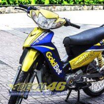 Tem xe Yamaha Sirius - 143 - Tem xe concept Gold bet vàng đen