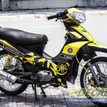 Tem xe Yamaha Sirius - 144 - Tem xe concept Kỉ niệm 60 năm vàng đen