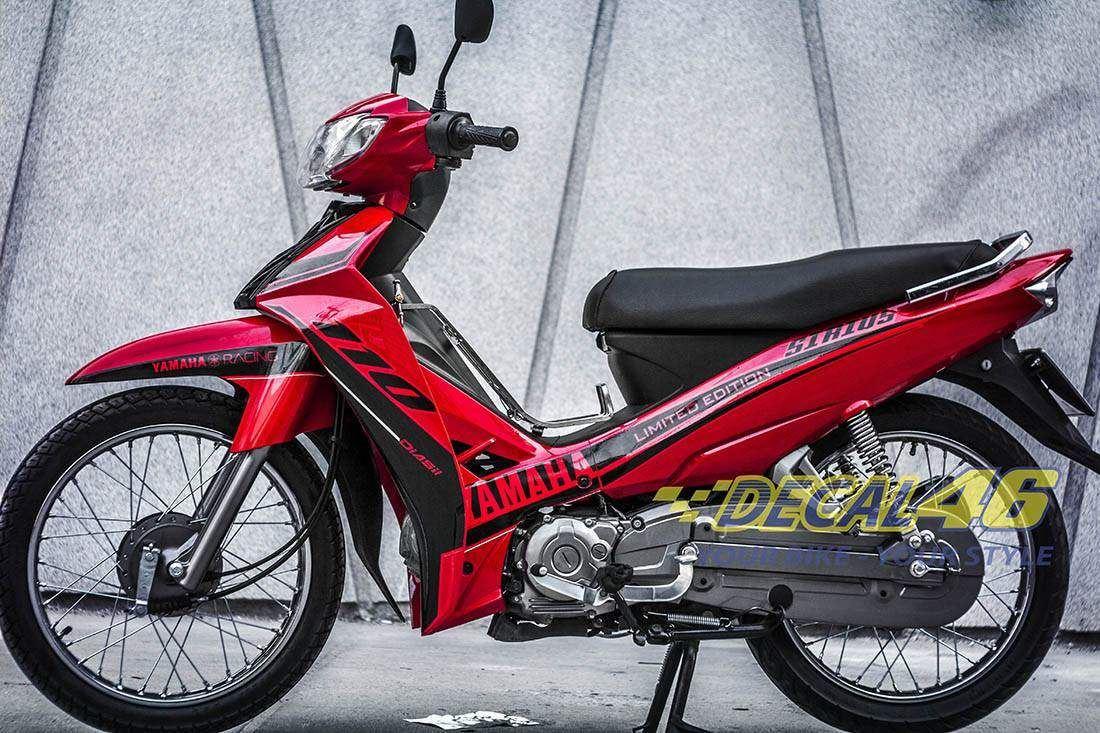 Tem xe Yamaha Sirius - 145 - Tem xe concept Limited Edition đỏ đen