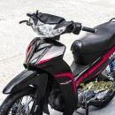 Tem xe Yamaha Sirius – 146 – Tem xe concept Matte Red Candy đỏ đen
