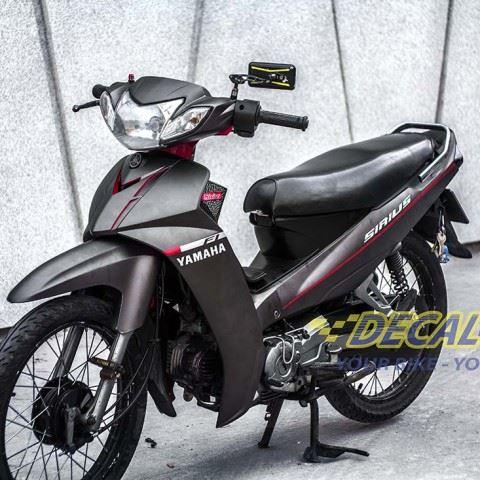 Tem xe Yamaha Sirius - 147 - Tem xe concept Matte Back xám đen