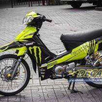 Tem xe Yamaha Sirius - 154 - Tem xe concept Monster vàng đen