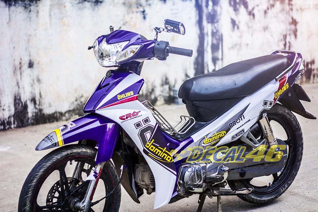 Tem xe Yamaha Sirius - 149 - Tem xe concept Ohlins tím trắng