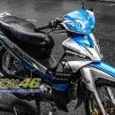 Tem xe Yamaha Sirius – 157 – Tem xe concept Petronas xanh bạc