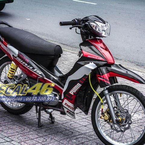 Tem xe Yamaha Sirius - 158 - Tem xe concept Puma đỏ đen