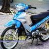 Tem xe Yamaha Sirius - 159 - Tem xe concept Racing boy xanh bạc