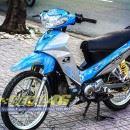 Tem xe Yamaha Sirius – 159 – Tem xe concept Racing boy xanh bạc