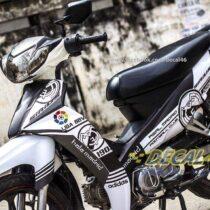 Tem xe Yamaha Sirius - 160 - Tem xe concept Real Madrid trắng đen