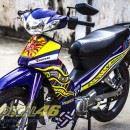 Tem xe Yamaha Sirius – 162 – Tem xe concept Rossi xanh vàng