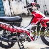 Tem xe Yamaha Sirius - 163 - Tem xe concept Skull đỏ trắng