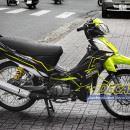 Tem xe Yamaha Sirius – 164 – Tem xe concept Slider vàng đen