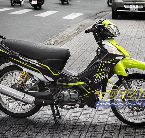 Tem xe Yamaha Sirius - 164 - Tem xe concept Slider vàng đen