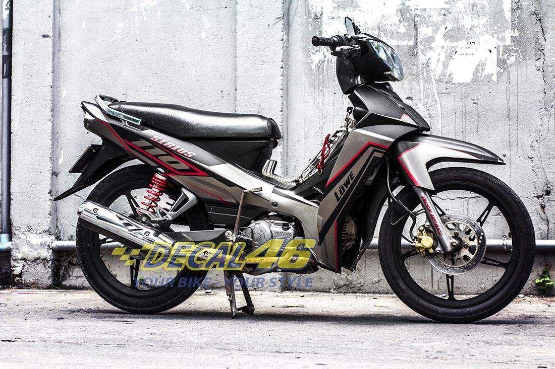 Tem xe Yamaha Sirius - 165 - Tem xe concept Slider đỏ đen