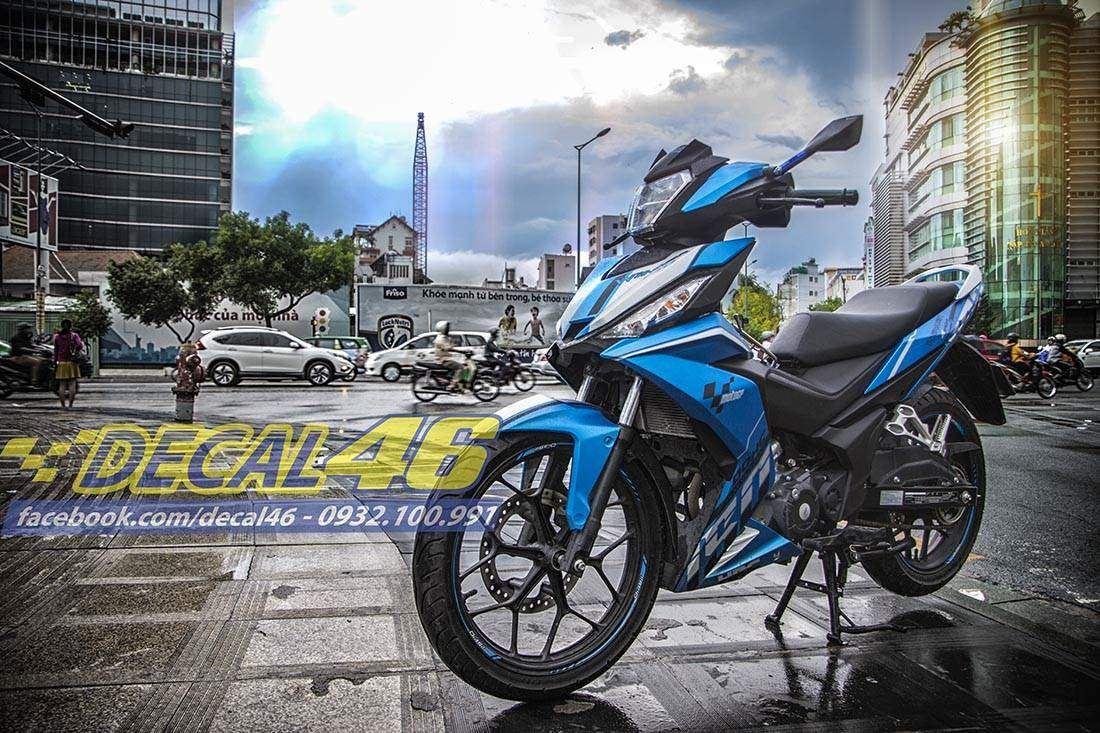 Tem xe Winner 150 - 112 - Tem xe concept Click Thái xanh trắng