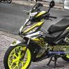 Tem xe Winner 150 - 123 - Tem xe concept The rock đen vàng