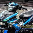Tem xe Exciter 150 – 200 – Tem xe thiết kế Monster xanh bạc