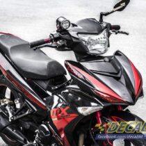 Tem xe Exciter 150 - 208 - Tem xe concept MX King đen đỏ