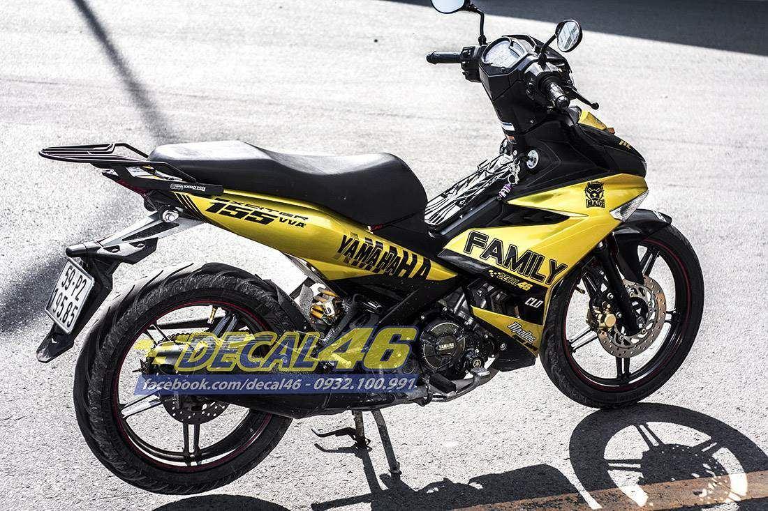 Tem xe Exciter 150 - 205 - Tem xe concept Ramos vàng đen