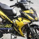 Tem xe Exciter 150 – 205 – Tem xe thiết kế Ramos vàng đen