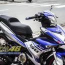 Tem xe Exciter 150 – 216 – Tem xe thiết kế Yamaha Racing xanh bạc