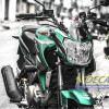 Tem xe FZ150i - 057 - Tem xe concept Green Army xanh đen