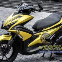 Tem xe NVX - 5 - Tem xe concept The Rock vàng đen