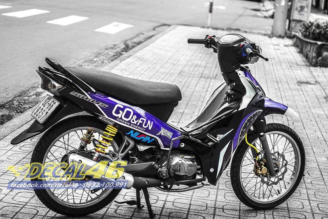 Tem xe Yamaha Sirius - 167 - Tem xe concept Tiktak xanh đen