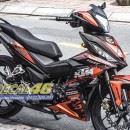 Tem xe Winner 150 – 117 – Tem xe thiết kế KTM nhôm cam đen